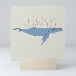 pretty whale Mini Art Print