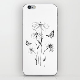 Flowers and butterflies 2 iPhone Skin