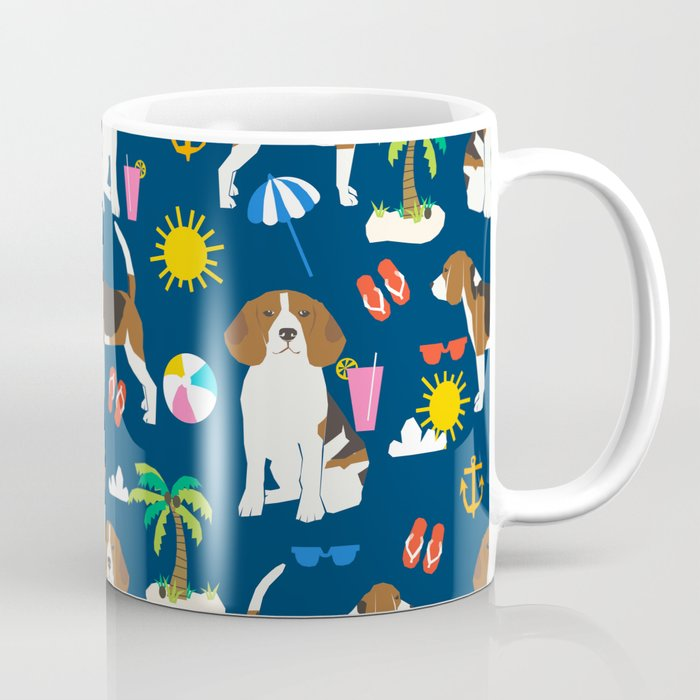 Beagle Beach Vacation Dog Breed Lover Beagles Must Haves Summer Gifts Coffee Mug