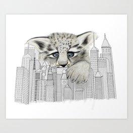 City Leopard Art Print