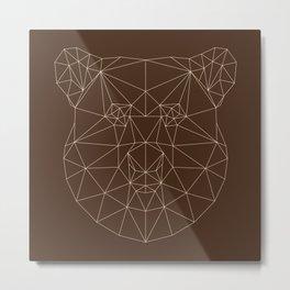 Poly-Bear Metal Print
