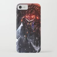 titan iPhone & iPod Cases featuring Shadow Titan by Benedick Bana
