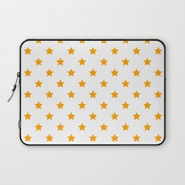 Small orange stars in rows. Laptop Sleeve