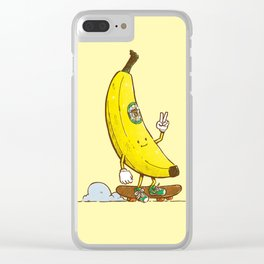 The Banana Skater Clear iPhone Case