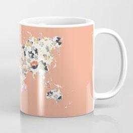 Floral world map Coffee Mug