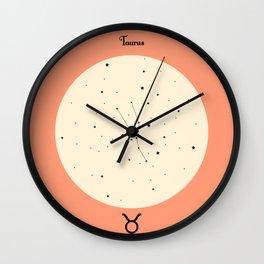Taurus - Pink Wall Clock