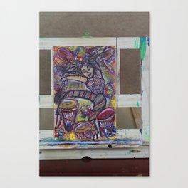 Tied to Dark Canvas Print