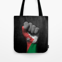 Jordanian Flag on a Raised Clenched Fist Tote Bag