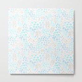 Abstract Garden (sea glass) Metal Print