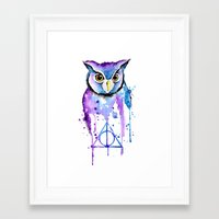 hedwig Framed Art Prints featuring Hedwig by Simona Borstnar