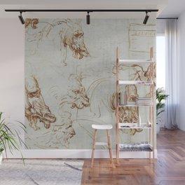 Horse sketches - Leonardo Da Vinci Wall Mural