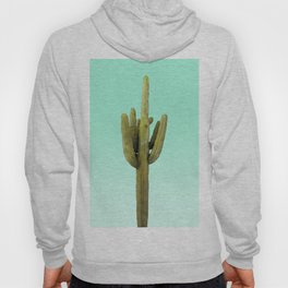 Cactus on Cyan Wall Hoody