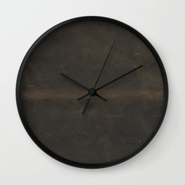 Vintage leather texture Wall Clock