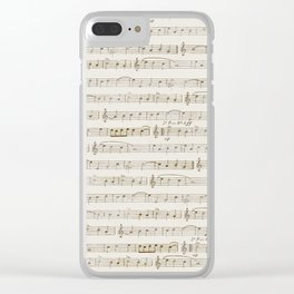 Sheet Music Clear iPhone Case