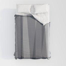 Grey Overlaps Duvet Cover