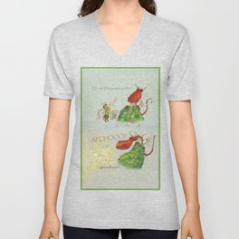 Get Well Soon- Poor Red Dragon  Unisex V-Neck