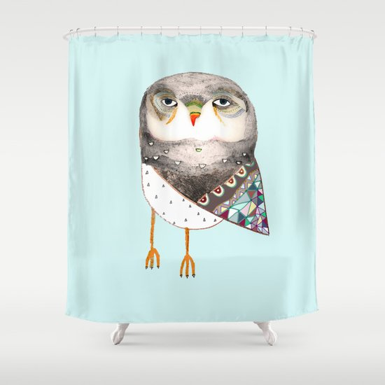 Owl by Ashley Percival Shower Curtain