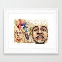 misfits Framed Art Prints featuring Misfits  by Seventy-three