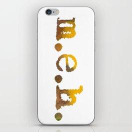 MEH Vibrant Urban Typewriting Text iPhone Skin