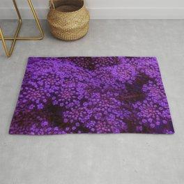 Purple Queen Anne's Lace Landscape Rug