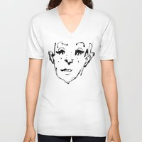 sketch V-neck T-shirts featuring Sketch by Ju/Graphique