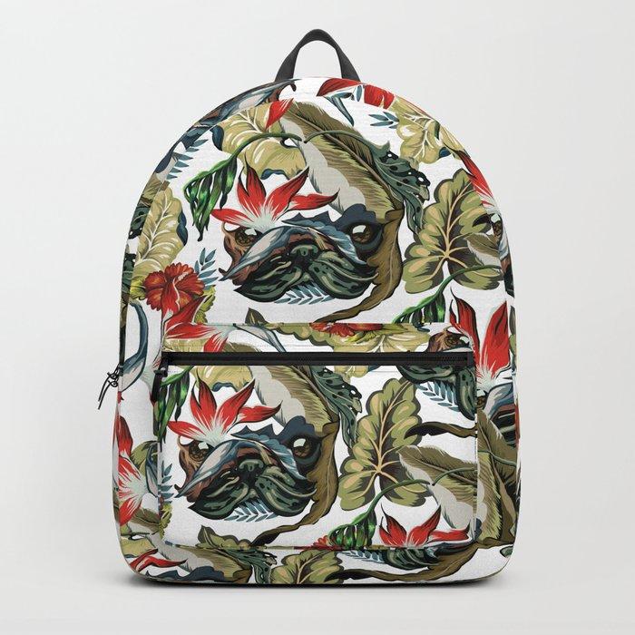 Tropical Pug Backpack