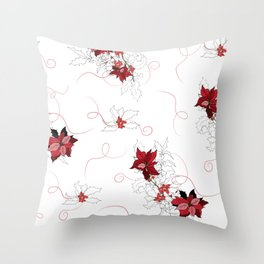 Delicate floral print Throw Pillow