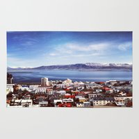 iceland Area & Throw Rugs featuring Reykjavik, Iceland by tyler Guill