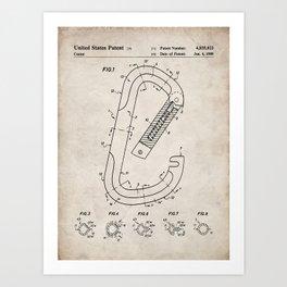 Rock Climbing Patent - Climber Art - Antique Art Print