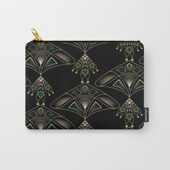 """Art Deco . """"Emeralds """". Carry-All Pouch"""