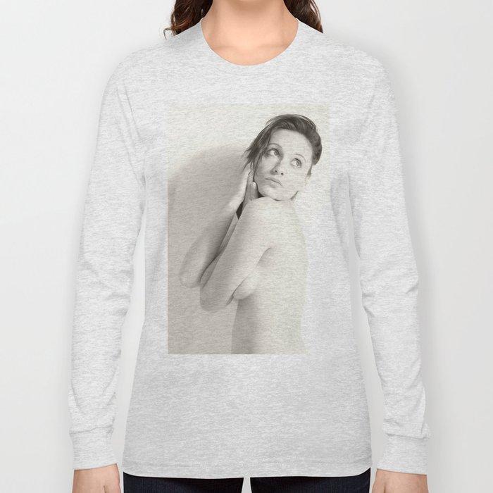 Nude, Akt, Nudes, Nackt, BW Nudes, Aktfoto, Aktfotografie Long Sleeve T-shirt