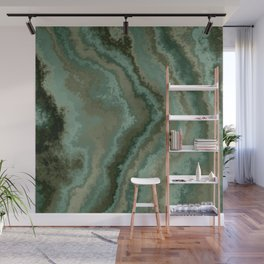 green texture abstract Wall Mural