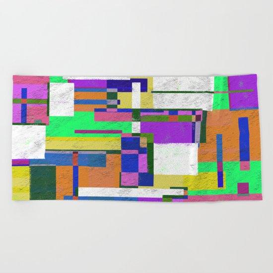 Pastel Geometry Beach Towel