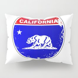 California Interstate Sign Pillow Sham