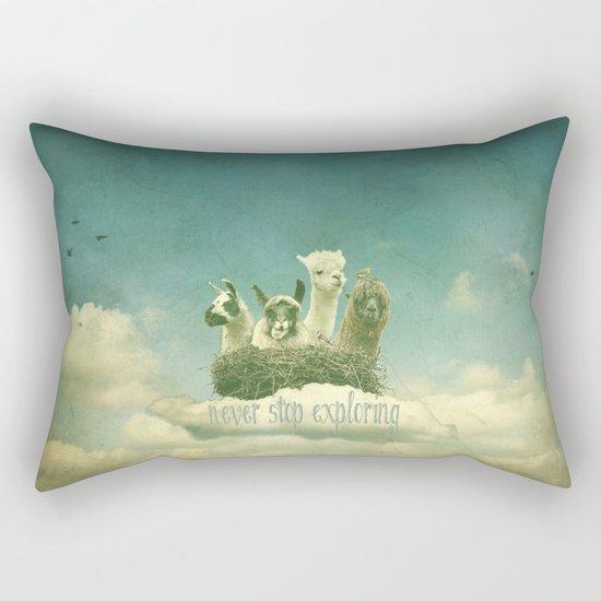 NEVER STOP EXPLORING THE CLOUDS Rectangular Pillow