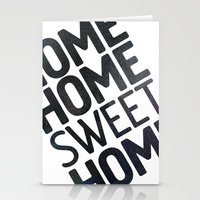 home sweet home Stationery Cards featuring HOME by Eolia