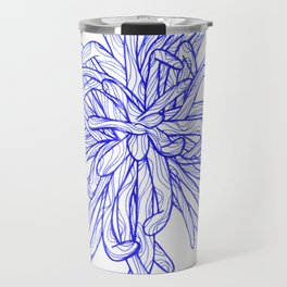 Blue Flower Travel Mug
