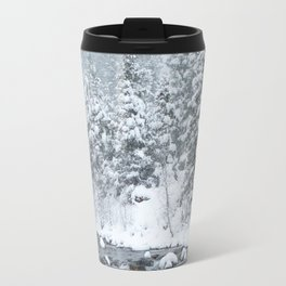 Snowy Mountain River Travel Mug