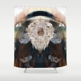 Birth//Death//Rebirth Shower Curtain