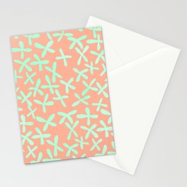 Sweet Life Firefly Peach Coral + Mint Meringue Stationery Cards