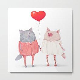 cats in love Metal Print