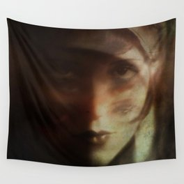 Clara, in Darkness Wall Tapestry