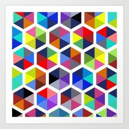 Hexagon Study Art Print
