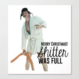 Merry Christmas Shitter Full Canvas Print
