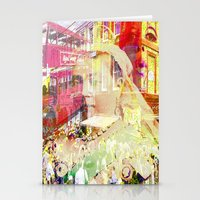 england Stationery Cards featuring Old England by Ganech joe