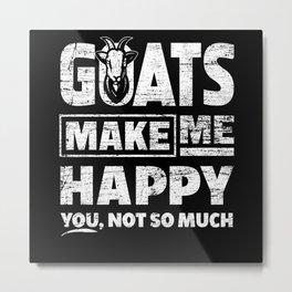 Goat Happy Metal Print
