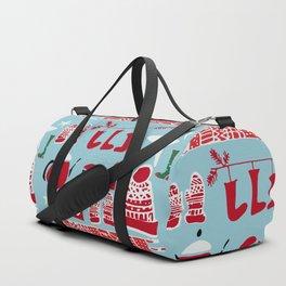 winter gear blue Duffle Bag