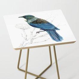 Tui, New Zealand native bird Side Table
