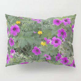 Wild Flowers in Purple and Yellow Pillow Sham