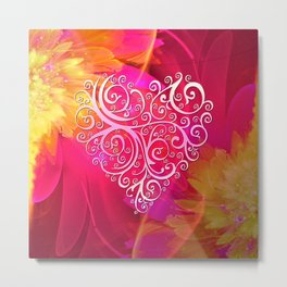 Ever More Heart Metal Print